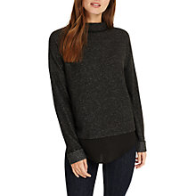 Buy Phase Eight Serena Snuggle Top, Charcoal Online at johnlewis.com