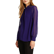 Buy Phase Eight Twist Front Blouse, Electric Purple Online at johnlewis.com