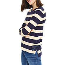 Buy Oasis Bow Striped Jumper, Multi Online at johnlewis.com