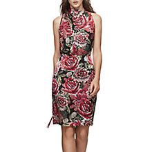Buy Reiss Xavi Drape Neck Burnout Dress, Multi Online at johnlewis.com