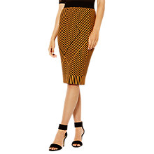 Buy Karen Millen Contrast Knitted Pencil Skirt, Orange/Multi Online at johnlewis.com