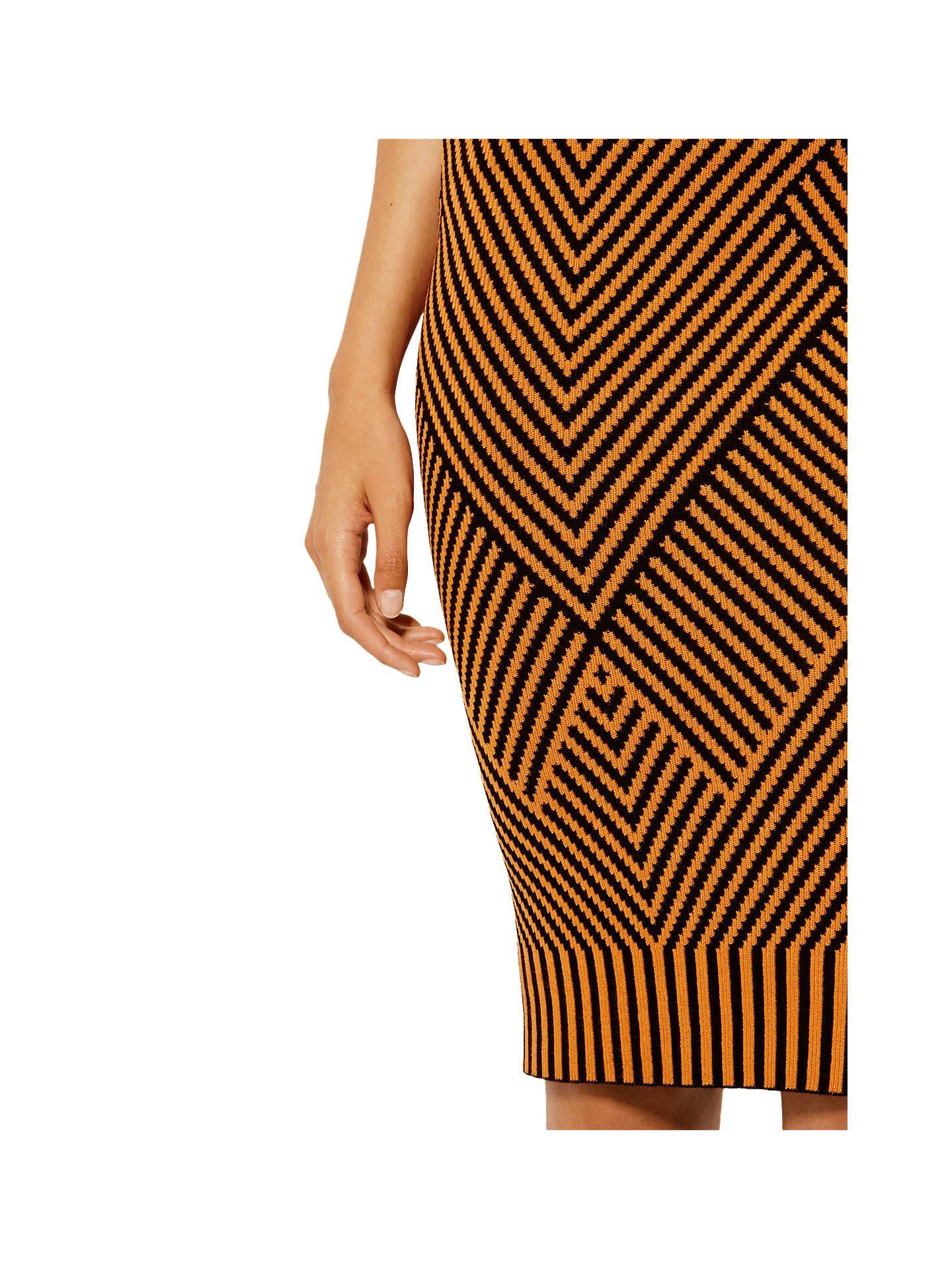 d72a009a62 ... Buy Karen Millen Contrast Knitted Pencil Skirt, Orange/Multi, XS Online  at johnlewis