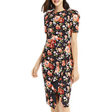 Buy Oasis Rose Ruffle Pencil Dress, Multi Online at johnlewis.com