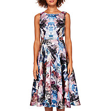 Buy Ted Baker Louwisa Mirrored Minerals Cut Out Midi Dress, Mid Grey Online at johnlewis.com
