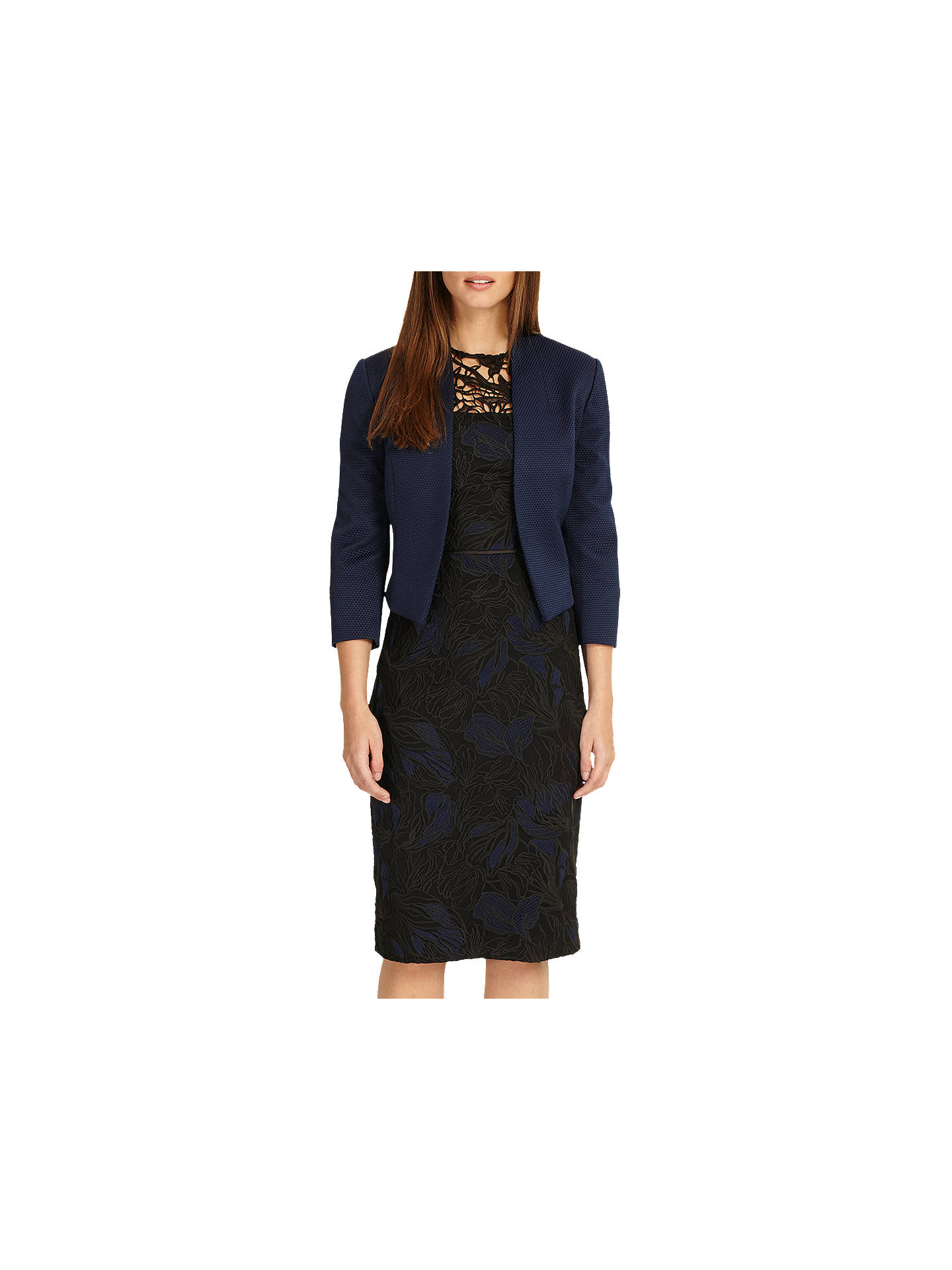 BuyPhase Eight Valda Jacket, Sapphire, 6 Online at johnlewis.com