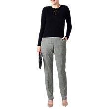 Buy Pure Collection Prince of Wales Slim Leg Wool Blend Trousers, Neutral Marl Online at johnlewis.com
