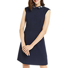Buy Oasis Floral Collar Shift Dress, Navy Online at johnlewis.com