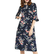 Buy Oasis Kimono Sleeve Midi Dress, Blue/Multi Online at johnlewis.com