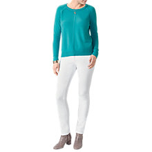 Buy Pure Collection Cashmere Stepped Hem Jumper, Dark Turquoise Online at johnlewis.com