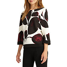 Buy Phase Eight Lizzie Leaf Print Blouse, Multi Online at johnlewis.com