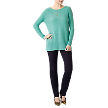 Buy Pure Collection Textured Cashmere Crew Neck Jumper Online at johnlewis.com