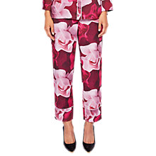 Buy Ted Baker Mianat Porcelain Rose Pyjama Style Trousers, Maroon Online at johnlewis.com