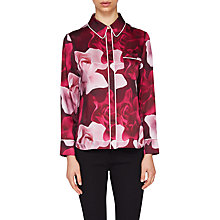 Buy Ted Baker Miana Porcelain Rose Pyjama Style Top, Maroon Online at johnlewis.com