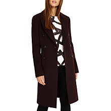 Buy Phase Eight Caterina Crombie Coat, Fig Online at johnlewis.com