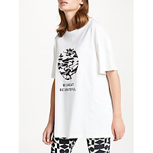 Buy PATTERNITY + John Lewis Be Great Be Grateful Logo Oversized T-Shirt, White Online at johnlewis.com