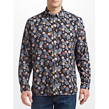 Buy JOHN LEWIS & Co. Japanese Floral Shirt, Navy Online at johnlewis.com
