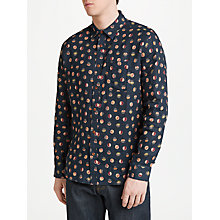 Buy JOHN LEWIS & Co. Sakuru Vintage Print Shirt, Black/Multi Online at johnlewis.com