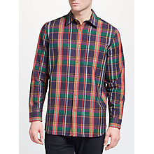 Buy John Lewis Ellery Check Shirt, Green/Pink Online at johnlewis.com