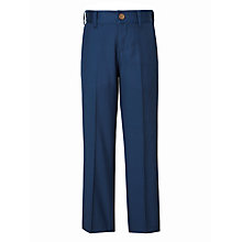 Buy John Lewis Heirloom Collection Boys' Cotton Sateen Trousers, Blue Online at johnlewis.com