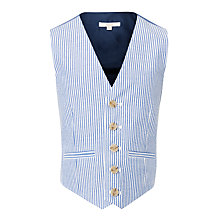 Buy John Lewis Heirloom Collection Boys' Striped Seersucker Waistcoat, Navy/White Online at johnlewis.com