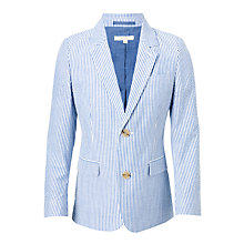 Buy John Lewis Heirloom Collection Boys' Striped Seersucker Suit Jacket, Navy/White Online at johnlewis.com