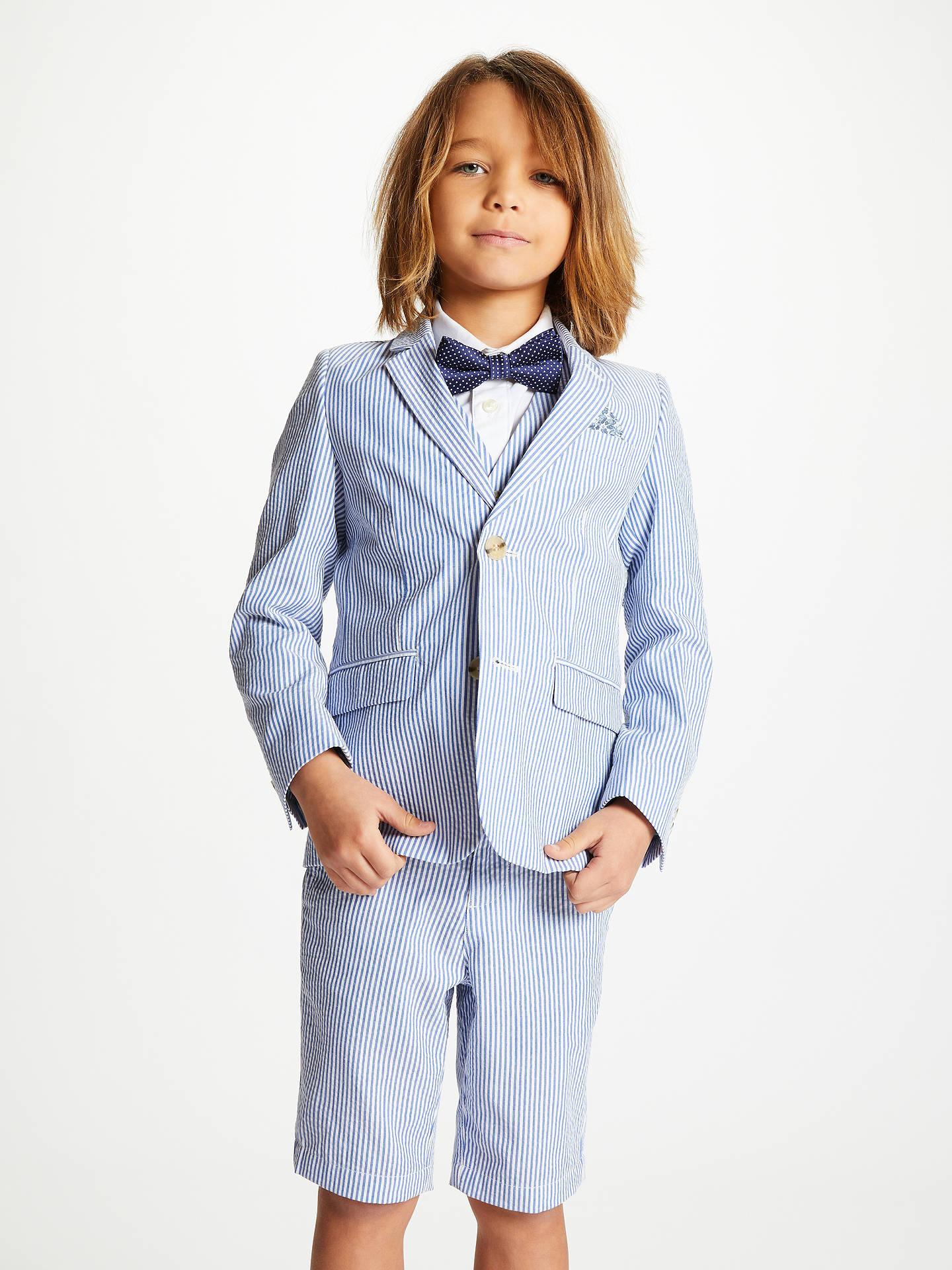 6dab1fb4a6c3 ... Buy John Lewis & Partners Heirloom Collection Boys' Striped Seersucker Suit  Jacket, Navy/ ...