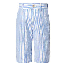 Buy John Lewis Heirloom Collection Boys' Striped Seersucker Shorts, Navy/White Online at johnlewis.com