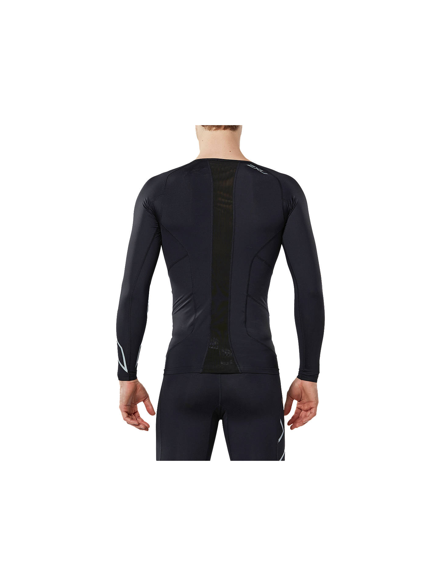Buy2XU Compression Long Sleeve Training Top, Black/Silver, S Online at johnlewis.com