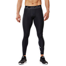 Buy 2XU Accelerate Compression Men's Tights, Black/Silver Online at johnlewis.com
