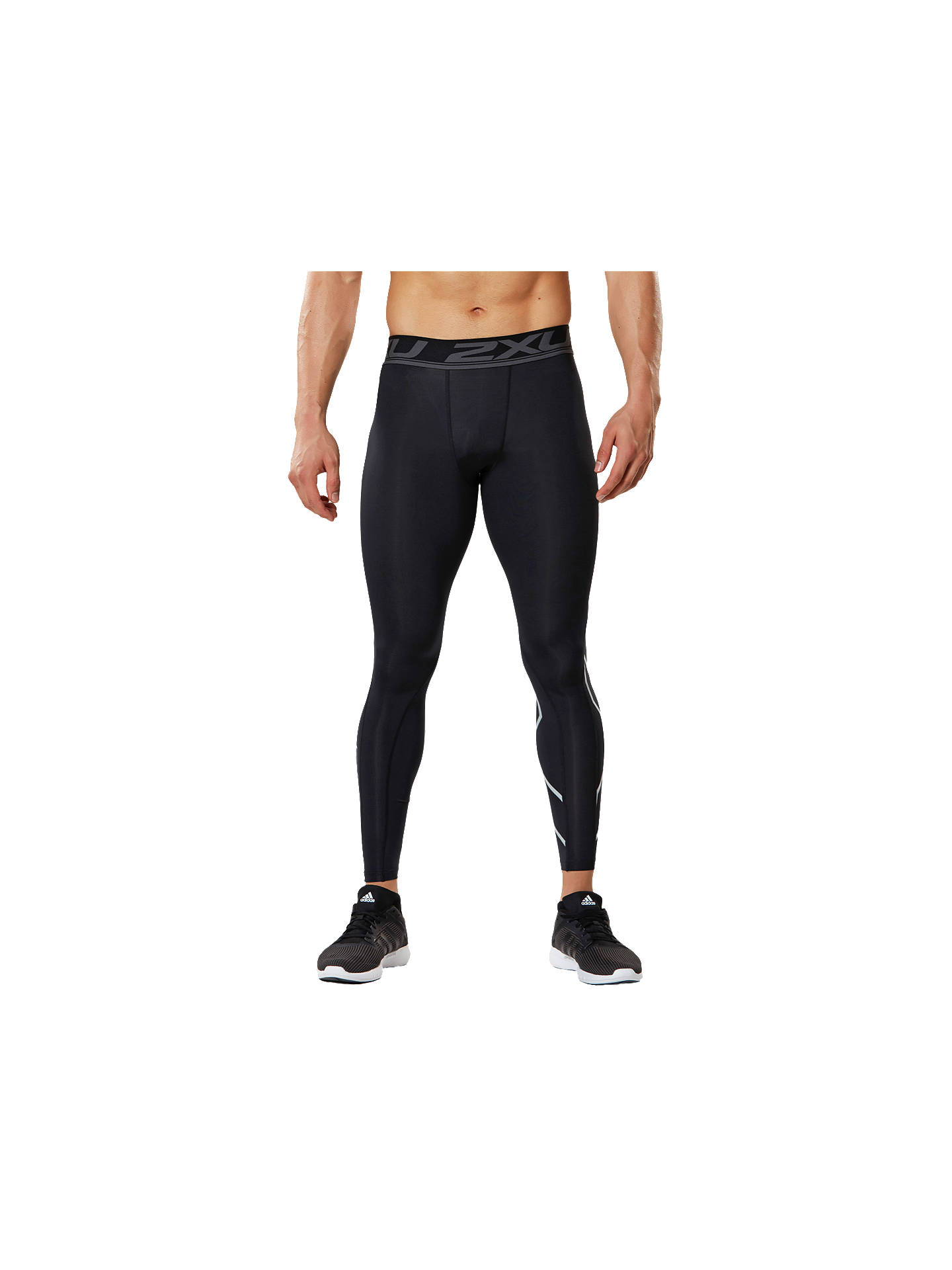 Buy2XU Accelerate Compression Training Tights, Black/Silver, S Online at johnlewis.com