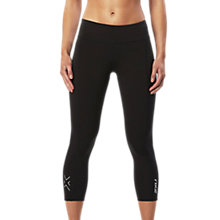 Buy 2XU Active Compression 7/8 Women's Tights, Black/Silver Online at johnlewis.com