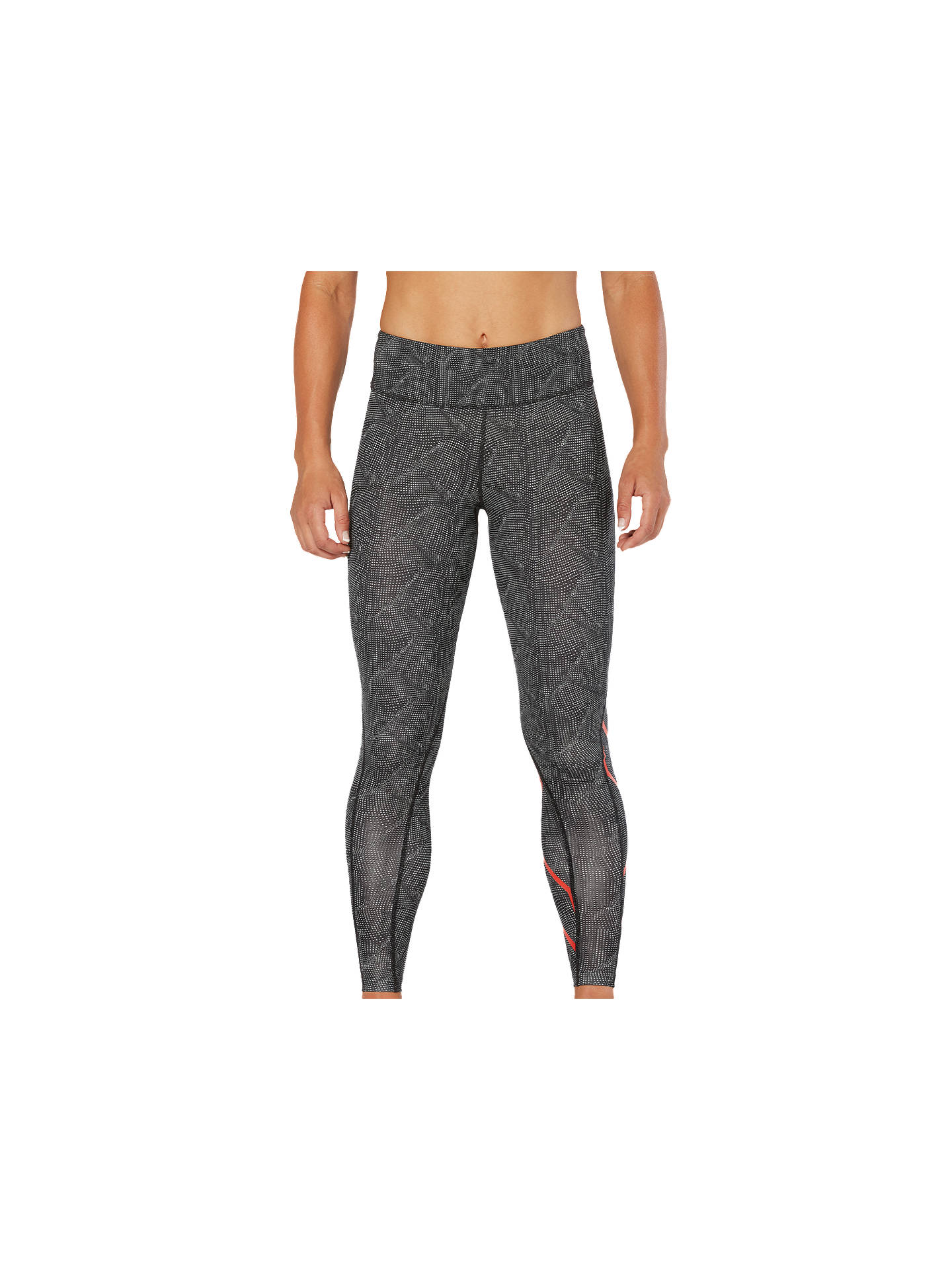 b5b559fbd5 Buy 2XU Mid-Rise Print Compression Women's Tights, Grey, XS Online at  johnlewis ...