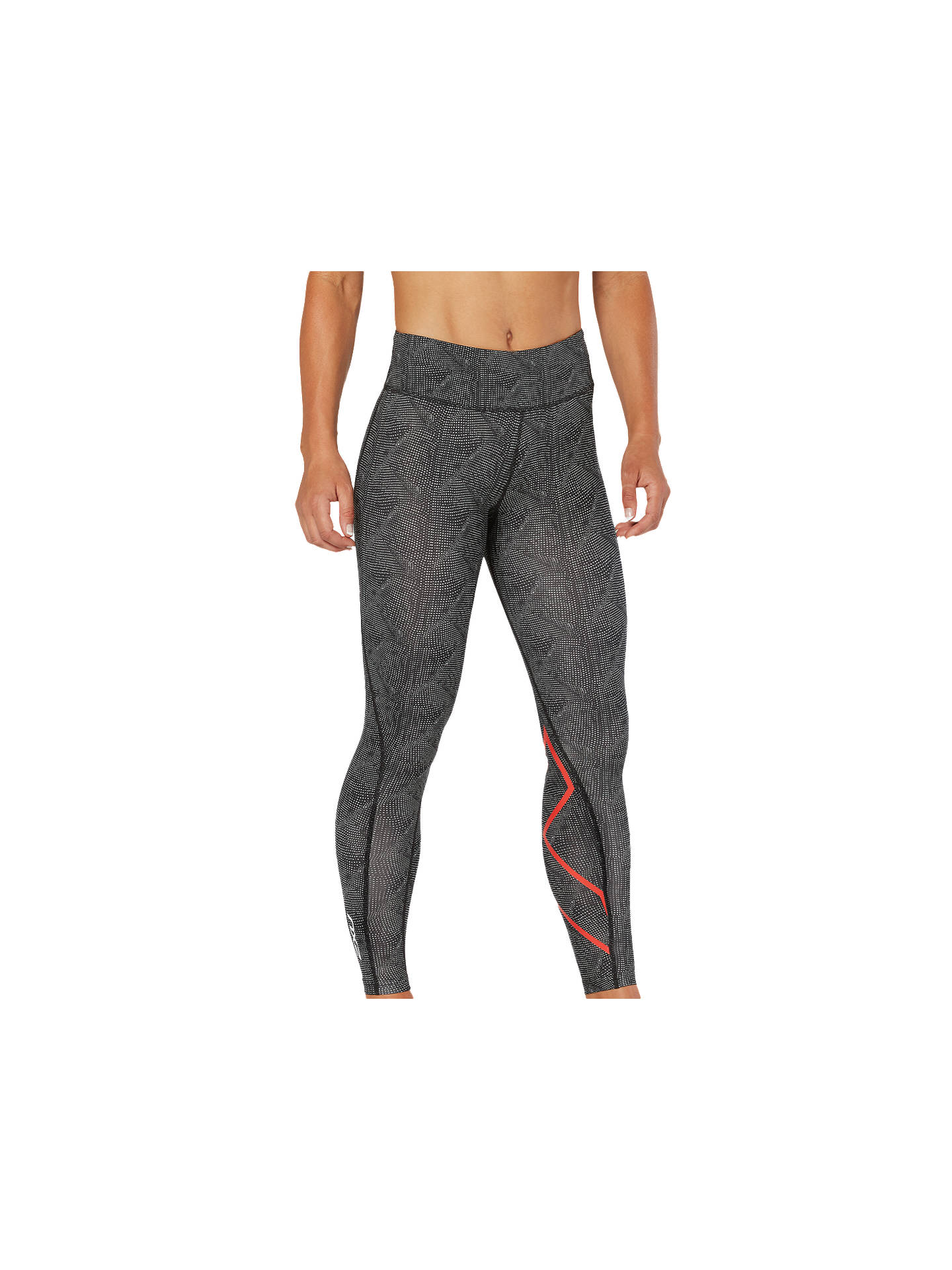 84c7f5bc ... Buy 2XU Mid-Rise Print Compression Women's Tights, Grey, XS Online at  johnlewis ...