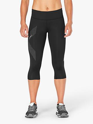 2XU Mid Rise Compression 3/4 Training Tights, Black