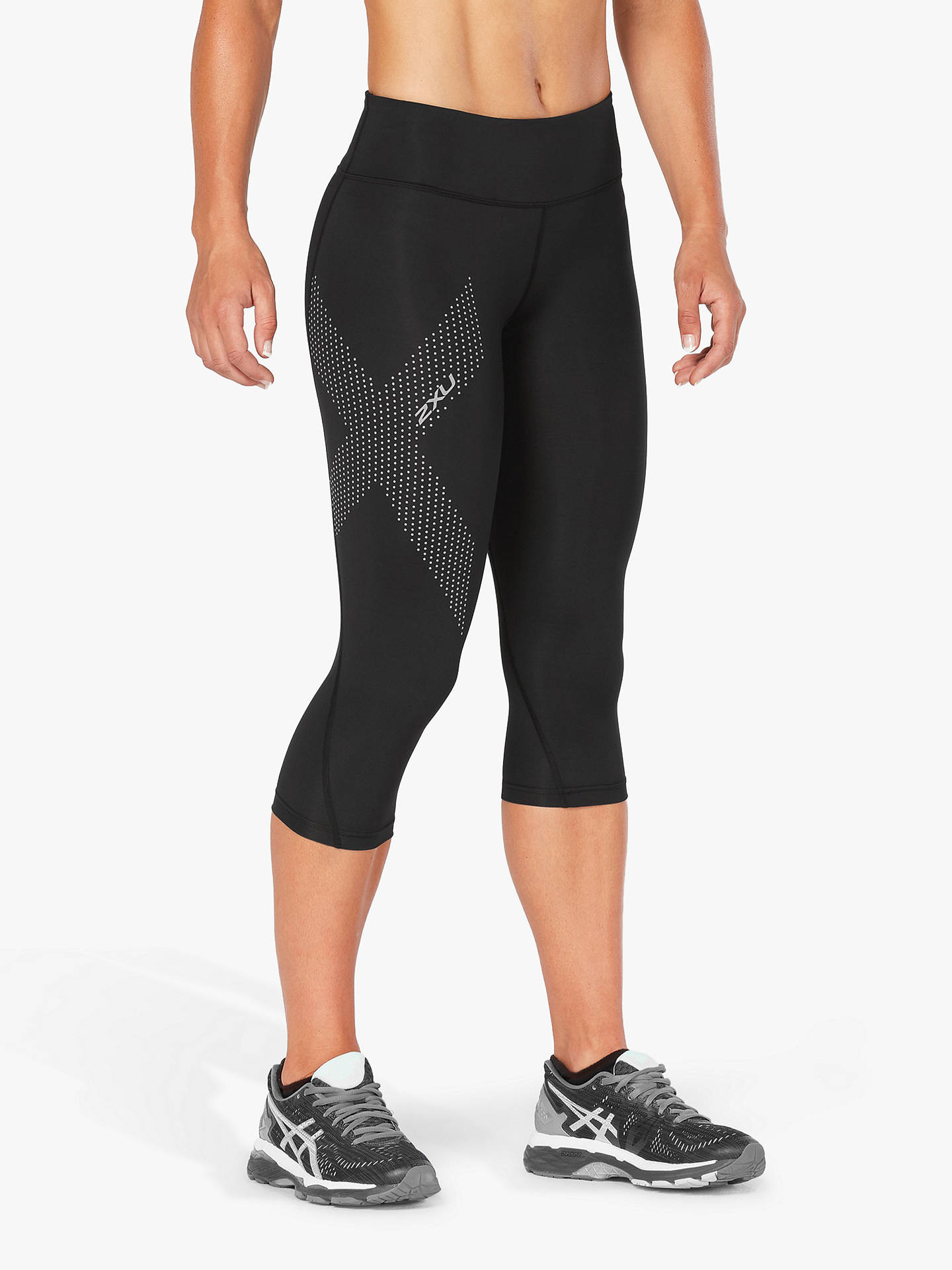 Buy2XU Mid Rise Compression 3/4 Training Tights, Black, XS Online at johnlewis.com