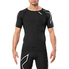 Buy 2XU Compression Short Sleeve Men's Top, Black/Silver Online at johnlewis.com