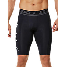 Buy 2XU Accelerate Compression Men's Shorts, Black/Silver Online at johnlewis.com
