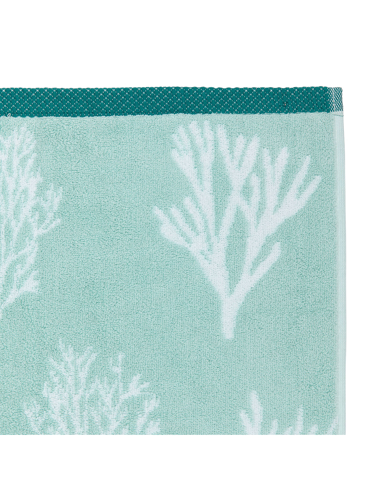 BuyJohn Lewis & Partners Coastal Coral Face Cloth, Pale Marine Online at johnlewis.com