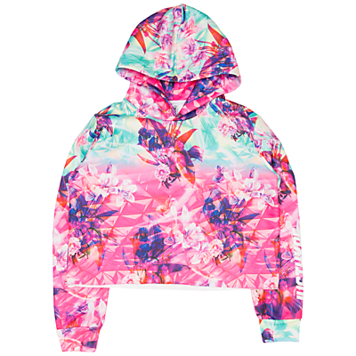 Hype Girls' Pyramid Cropped Hoodie, Multi
