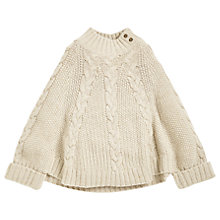 Buy Angel & Rocket Cable Knit Poncho, Cream Online at johnlewis.com