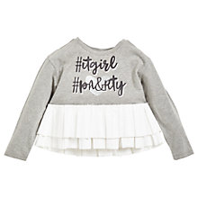 Buy Angel & Rocket IT Girl Party 2-in-1 T-Shirt, Grey Online at johnlewis.com