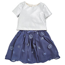 Buy Angel & Rocket Girls' Mesh Tulle Dress, Navy Online at johnlewis.com