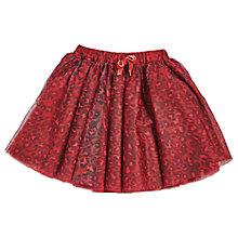 Buy Angel & Rocket Girls' Leopard Print Mesh Skirt, Red Online at johnlewis.com