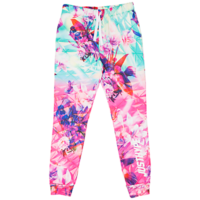 Hype Girls' Pyramid Floral Joggers, Multi
