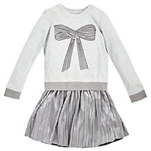 Buy Angel & Rocket Girls' Bow Sequin Dress, Grey Online at johnlewis.com