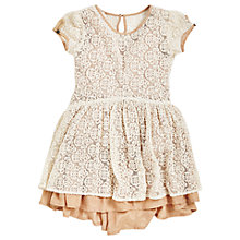 Buy Angel & Rocket Lace Ruffle Dress, Cream Online at johnlewis.com