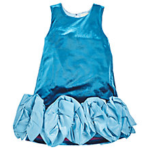 Buy Angel & Rocket Girls' Velvet Ruffle Dress, Blue Online at johnlewis.com