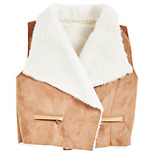 Buy Angel & Rocket Girls' Shearling Gilet, Stone Online at johnlewis.com