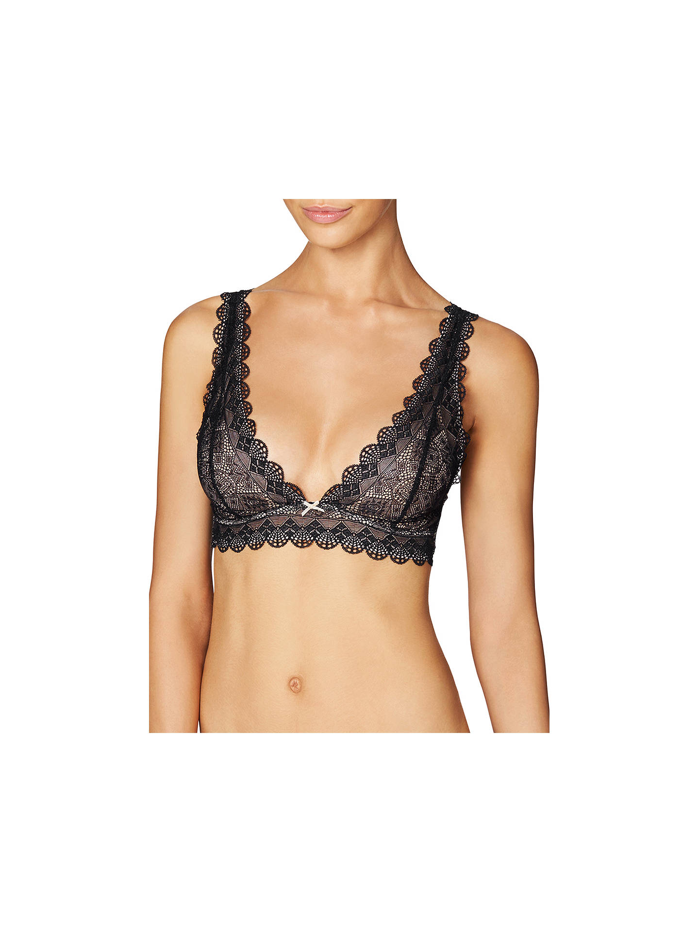eff31b380d04 Buy Heidi Klum Intimates Geometric Lace Soft Cup Bra, Black/Almond, S  Online ...