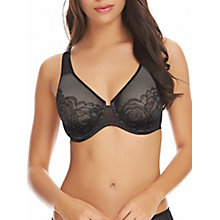 Buy Wacoal Stark Beauty Full Cup Minimiser Bra, Black Online at johnlewis.com
